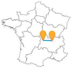 Partir en bus de Clermont-Ferrand à Lyon