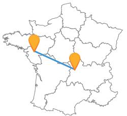 Voyagez de manière écologique en bus de Clermont-Ferrand à Nantes