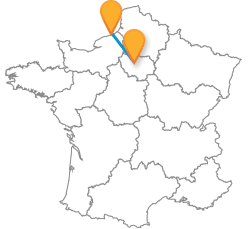 Voyage pas cher en bus de Dieppe à Paris