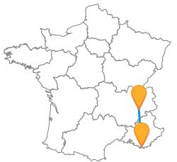 Comparez les trajets en bus de Grenoble à Toulon