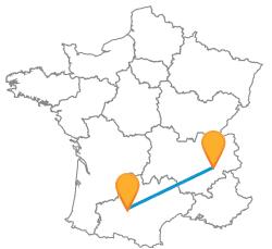 Tous les trajets pas cher en bus de Grenoble à Toulouse