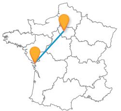 Comparez les bus de La Rochelle à Paris