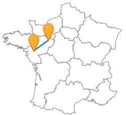 Choisissez votre bus de Le Mans à Nantes