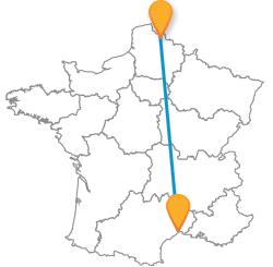 Partir en vacances en bus de Lille à Montpellier