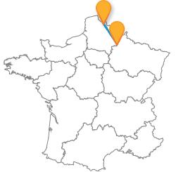 Comparez les prix des billets de bus de Lille à Reims