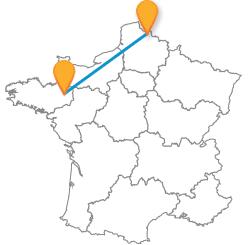 Comparer tous les billets de bus de Lille à Rennes