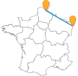 Les trajets de bus de Lille à Strasbourg à petit prix