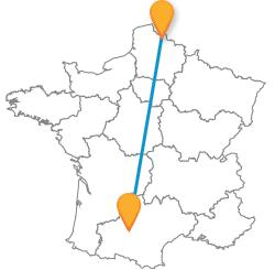 Trouvez un billet de bus de Lille à Toulouse