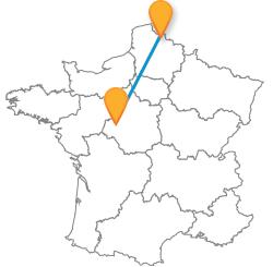 Trouvez le meilleur trajet en bus de Lille à Tours