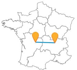 Tous les trajets en bus de Limoges à Lyon low cost
