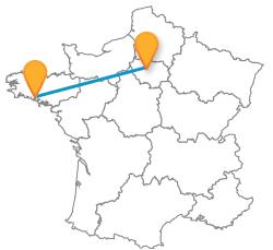 Partie en voyage en bus de Lorient à Paris