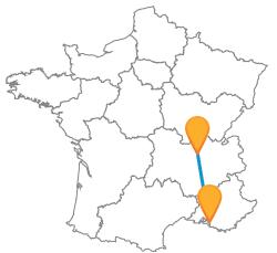 Trajets en bus de Lyon à Marseill