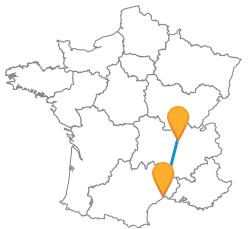 Trouvez votre trajet en bus de Lyon à Montpellier