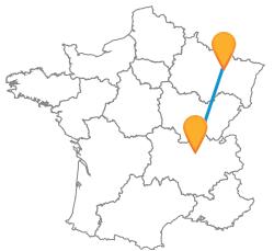 Tous les trajets en bus de Lyon à Nancy