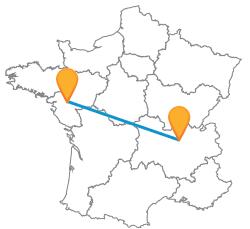 Partir en vacances en bus de Lyon à Nantes