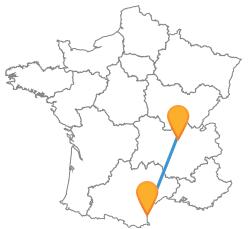 Tous les meilleurs trajets en bus de Lyon à Perpignan moins cher