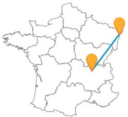 Trouver un trajet en bus de Lyon à Strasbourg