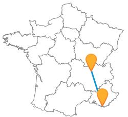 Comparer les voyages en bus de Lyon à Toulon