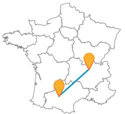Comparer les trajets en bus de Lyon à Toulouse