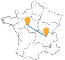 Comparer les voyages en car de Lyon à Tours