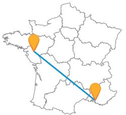 Tous les trajets en bus de Marseille à Nantes