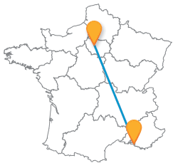 Votre trajet en bus de Marseille à Paris