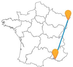 Partez en voyage à petit prix en bus de Marseille à Strasbourg
