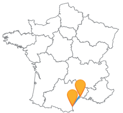 Trouvez le meilleur trajet en car de Montpellier à Perpignan