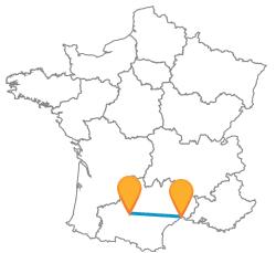 Reservez un voyage en bus de Montpellier à Toulouse au meilleur prix