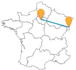 Comparer les billets de bus de Mulhouse à Paris