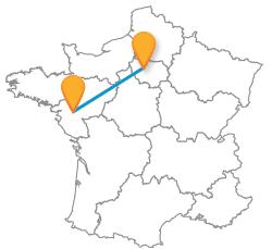 Voyage en bus de Nantes à Paris