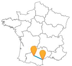 Tous les trajets de bus de Narbonne à Toulouse