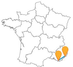 Comparez les trajets en bus de Nice à Toulon