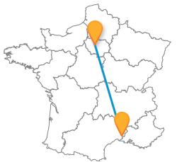 Reservez votre billet de bus de Nimes à Paris
