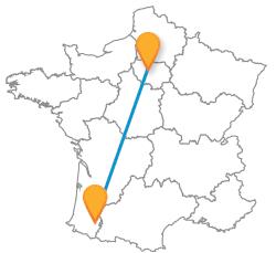 Tous les billets de bus de Paris à Pau