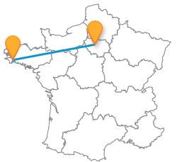 Les meilleurs trajets en bus de Paris à Quimper