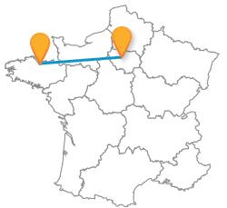 Car de Paris à Saint-Brieuc low cost