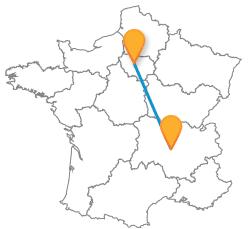 Les meilleurs trajets en bus de Paris à Saint-Etienne