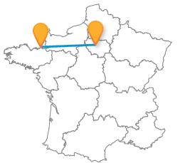 Trouvez un billet de bus de Paris à Saint-Malo pas cher