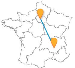Tous les trajets de bus de Paris à Valence, France