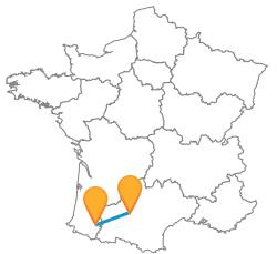 Voyager en bus de Pau à Toulouse prix bas