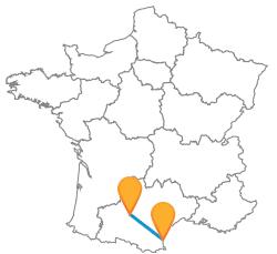 Voyagez en bus de Perpignan à Toulouse
