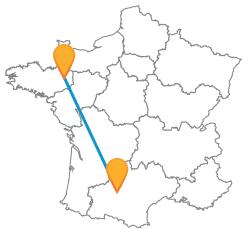 Voyager pas cher en bus de Rennes à Toulouse
