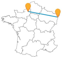 Tous les bus de Rouen à Strasbourg