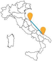 Godetevi il panorama della costa adriatica viaggiando in pullman da Ancona a Bari