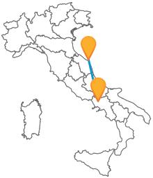 Prenota adesso il tuo autobus da Ancona a Caserta