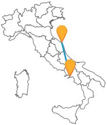 Confrontate le tariffe dei pullman da Ancona a Napoli