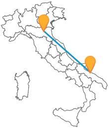 Partite per un viaggio lungo l'Adriatico con il pullman da Bari a Bologna