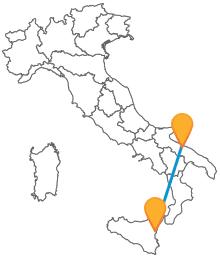 Con l'autobus tra Bari e Catania viaggiare in pullman in Italia è più semplice
