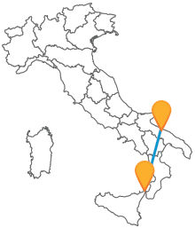 Attraversate il Sud Italia con un comodo ed economico autobus da Bari a Messina